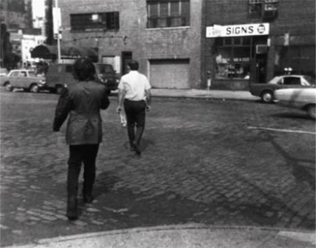 Vito Acconci, Following Piece (1969)